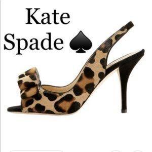 Kate Spade Chariot leopard slingback
